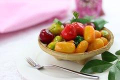 Тайский десерт сделанный от соь Стоковые Фото
