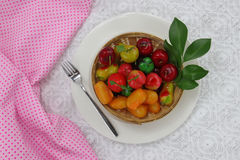 Тайский десерт сделанный от соь Стоковое Изображение RF