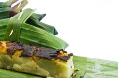 Тайский десерт сделанный от фасоли на белизне. Стоковая Фотография