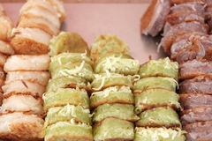 Тайский десерт, тайский блинчик Стоковая Фотография