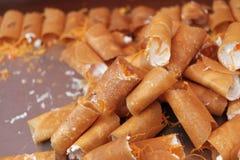 Тайский десерт, тайский блинчик Стоковое Изображение