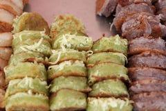 Тайский десерт, тайский блинчик Стоковые Изображения RF