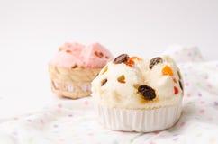 Тайский десерт, тайский испаренный торт чашки или торт ваты с сказочным Стоковые Фотографии RF