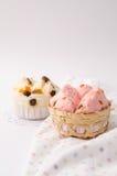 Тайский десерт, тайский испаренный торт чашки или торт ваты Стоковое Изображение RF