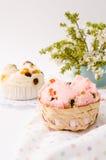 Тайский десерт, тайский испаренный торт чашки или торт ваты Стоковая Фотография