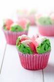 Тайский десерт, тайский испаренный торт чашки или торт ваты Стоковые Изображения RF