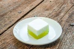 Тайский десерт, тайский студень кокоса Стоковые Изображения RF