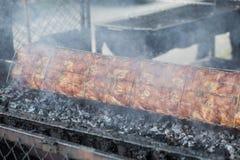 Тайский зажаренный цыпленок, тайская еда, зажаренный цыпленок Стоковые Изображения