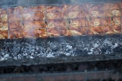 Тайский зажаренный цыпленок, тайская еда, зажаренный цыпленок Стоковое Изображение RF