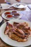 Тайский зажаренный цыпленок Стоковое Фото