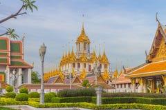 Тайский замок металла Wat Ratchanadam виска стоковые изображения