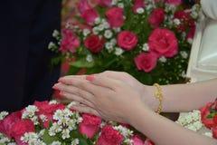 Тайский захват свадебной церемонии Стоковая Фотография