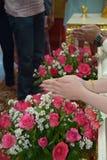 Тайский захват свадебной церемонии Стоковые Изображения RF