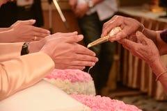 Тайский захват свадебной церемонии Стоковые Фото