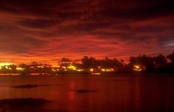 Тайский заход солнца 3 стоковые фотографии rf