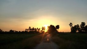 Тайский заход солнца стоковая фотография