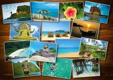 Тайский дизайн концепции туризма перемещения - коллаж Таиланда отображает Стоковое Изображение RF
