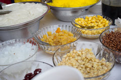 Тайский ингридиент десерта стиля Стоковые Фотографии RF