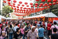 Тайский китайский народ, Бангкок Стоковое Фото