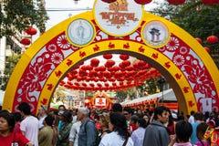 Тайский китайский народ, Бангкок Стоковые Фото