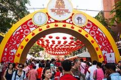 Тайский китайский народ, Бангкок Стоковая Фотография
