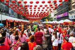 Тайский китайский народ, Бангкок Стоковые Изображения