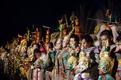 Тайский классический замаскированный балет и тайское историческое a Стоковые Изображения RF