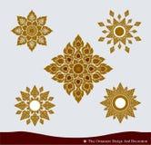 Тайский комплект дизайна орнамента Стоковые Фото