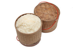 Тайский контейнер липкого риса Лаоса бамбуковый стоковое изображение