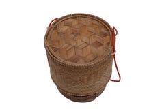 Тайский контейнер липкого риса Лаоса бамбуковый стоковые фотографии rf