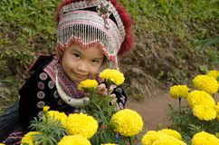 Тайский костюм носки девушки традиционный этнического hmong Стоковое фото RF