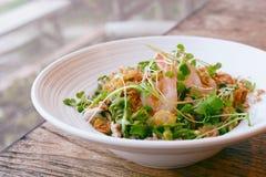 Тайский, который подогнали салат креветки фасоли Стоковые Изображения