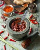 Тайский красный затир карри Стоковая Фотография RF