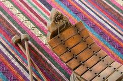 Тайский крупный план ксилофона стоковое фото