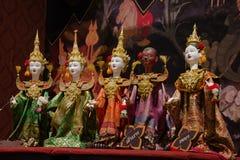 Тайский кукольный театр на Бангкоке, Таиланде стоковая фотография rf
