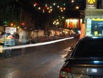 Тайский местный туристский уличный рынок ночи, красочное украшение лампы Стоковая Фотография RF