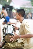 Тайский музыкант бокса Стоковое Изображение RF