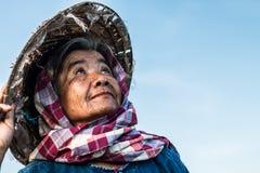 Тайский образ жизни фермеров бабушки Стоковые Фотографии RF