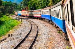 Тайский общественный тепловозный поезд Стоковые Изображения RF