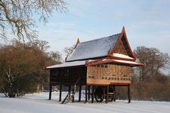 Тайский дом в музее Moesgaard, Дании Стоковое фото RF