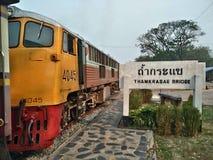 Тайский поезд на туристической достопримечательности Таиланда Стоковое Изображение