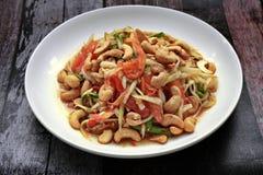 Тайский популярный салат рецепта, пряных и кислых смешанный vegetable с p стоковое фото rf