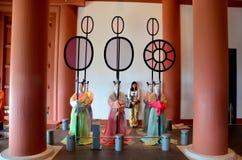 Тайский портрет женщин с статуей внутри музея Осака Histor Стоковое Изображение