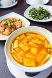 Тайский пряный оранжевый суп Стоковые Изображения