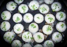 Тайский пудинг кокоса, горячие торты риса, торт кокоса стоковое фото rf