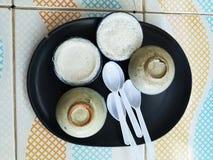 Тайский пудинг кокоса Стоковые Изображения RF