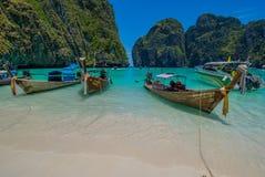 Тайский пляж рая около Krabi стоковое фото rf
