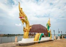 Тайский дракон, nongkhai, Таиланд Стоковое Изображение RF
