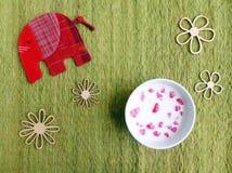 Тайский рубин красного цвета десерта Стоковые Фото