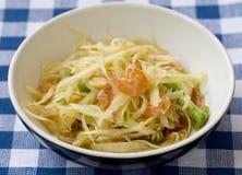 Тайский салат папапайи стоковое фото